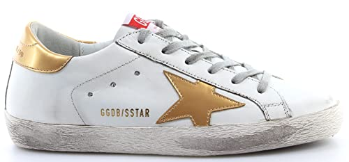 GOLDEN GOOSE Calzado Sneaker Mujer Superstar G31WS590D15 White Leather Gold Star: Amazon.es: Zapatos y complementos