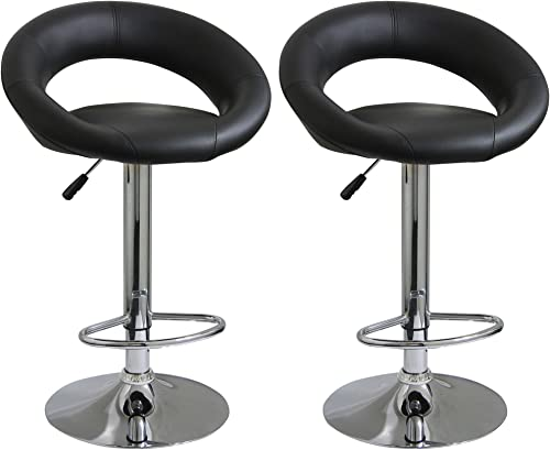 Amerihome BS1189SET Height Adjustable Bar Stool Set, 2-Piece