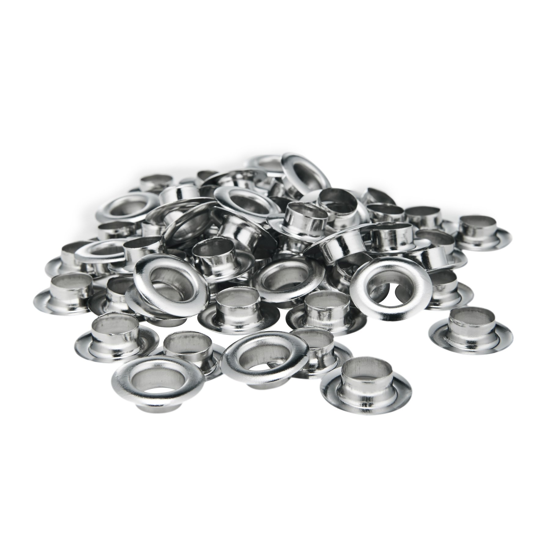 Pinty 1000 Grommets + 1000 Washers - Nickel Finish - #2 Size, 3/8'' Eyelets by Pinty (Image #3)