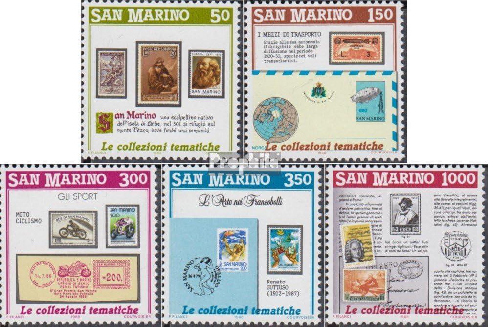 Prophila Collection San Marino 1382-1386 (Completa.edición.) 1988 filatelia (Sellos para los coleccionistas) Sello en Sello: Amazon.es: Juguetes y juegos