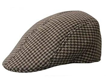 59858b4ff76a Mens Tweed Flat Cap Herringbone Country Peak Hat Farmer Golf Classic (color  No.3