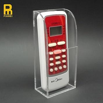 PINMEI Acrylic Remote Control Holder Wall Mount Media Organizer Box