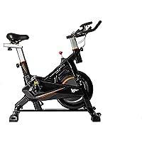 Bicicleta Spinning Estática para Interior Fitness   Ajuste de resistencia sin niveles   Monitor digital y asas de…