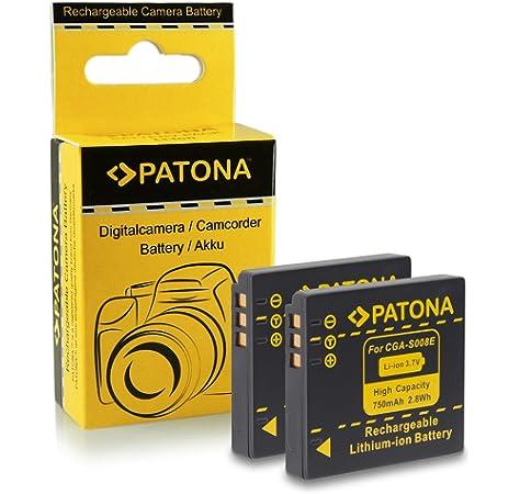 CGA-S008 Cargador De Batería Para Panasonic DMW-BCE10E//DB70 Lumix DMC-FX33 FX55 FX36