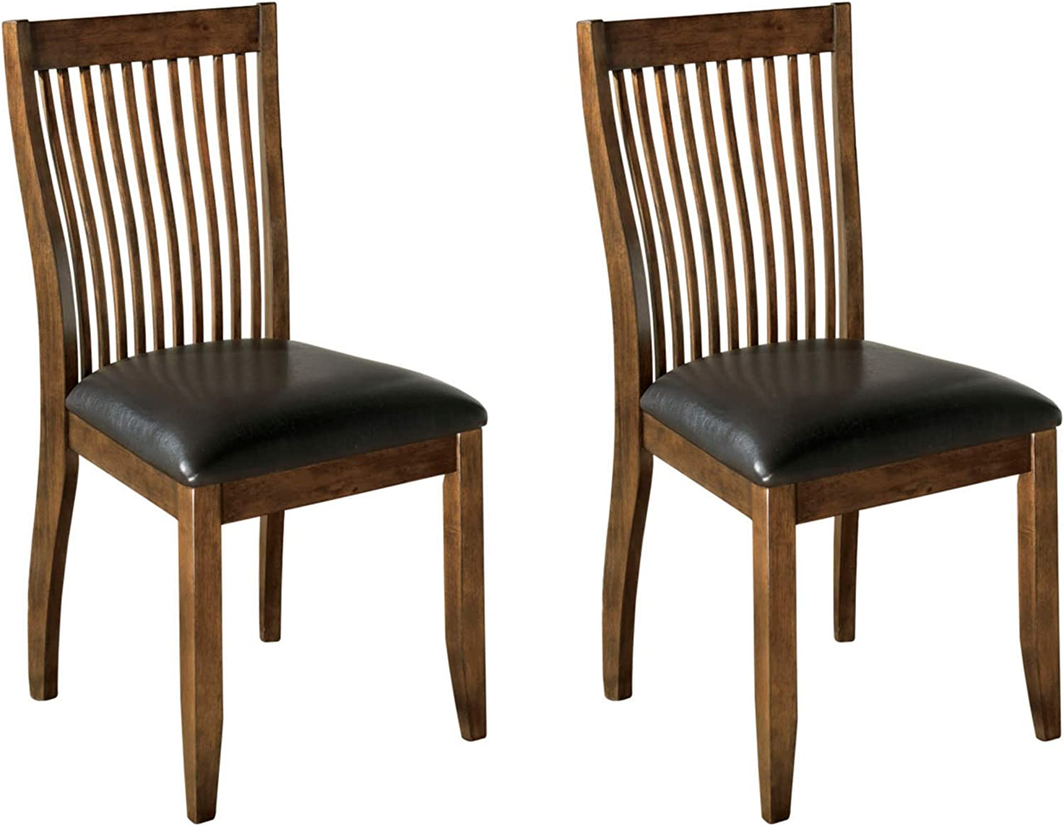 Signature Design By Ashley Centiar Dining Chair Set Of 2 Black And Brown Chairs