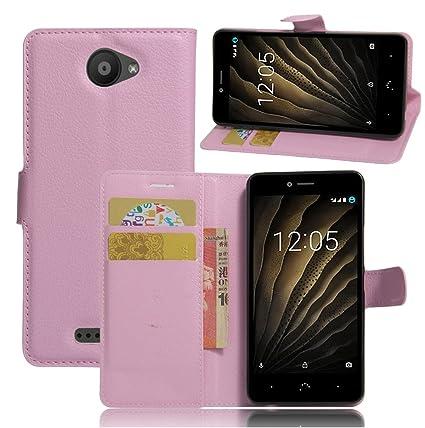 Amazon.com: BQ Aquaris U Case,Manyip PU Leather Stand Wallet ...