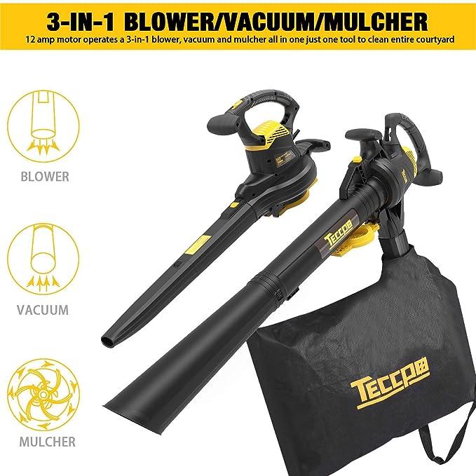 Amazon.com: TECCPO – Flor de hojas, aspiradora de jardín ...