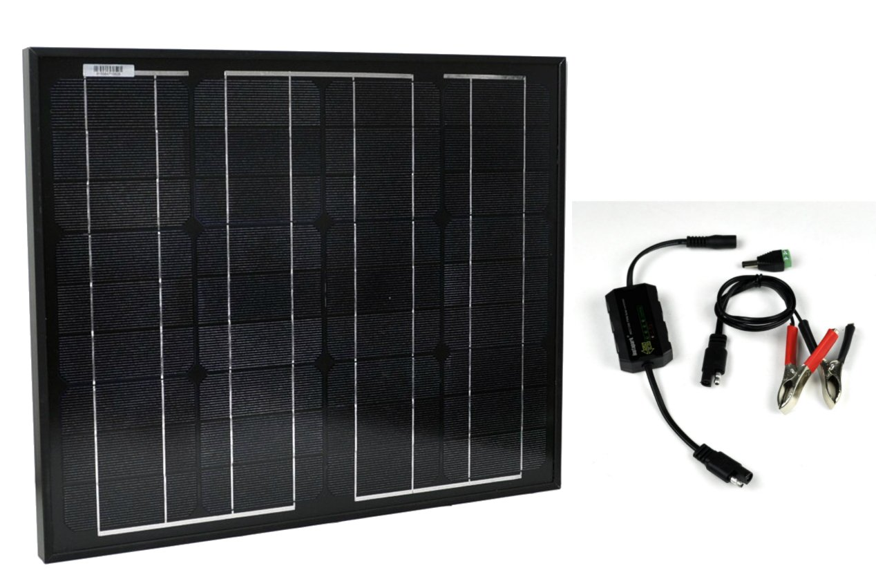 Instapark 30W Mono Crystalline Solar Panel with 12V solar charge controller