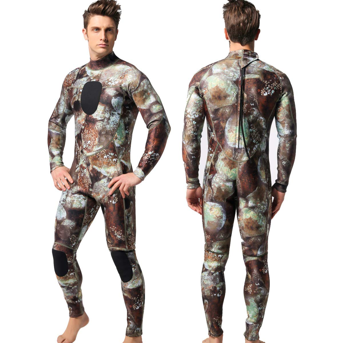 MYLEDI Neoprene 3mm Scuba Diving Suit One Piece Mens Spearfishing Full Body Spearfishing Wetsuit (MY003, XXL) by MYLEDI