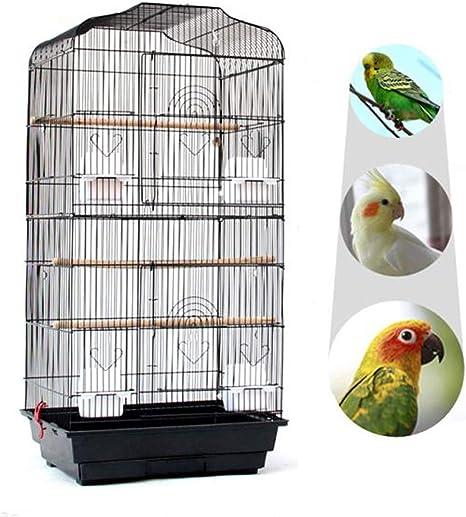 Yahee cage d'oiseaux cage de perroquet volière pour oiseaux perroquet 46 x 36 x 92 cm Blanc