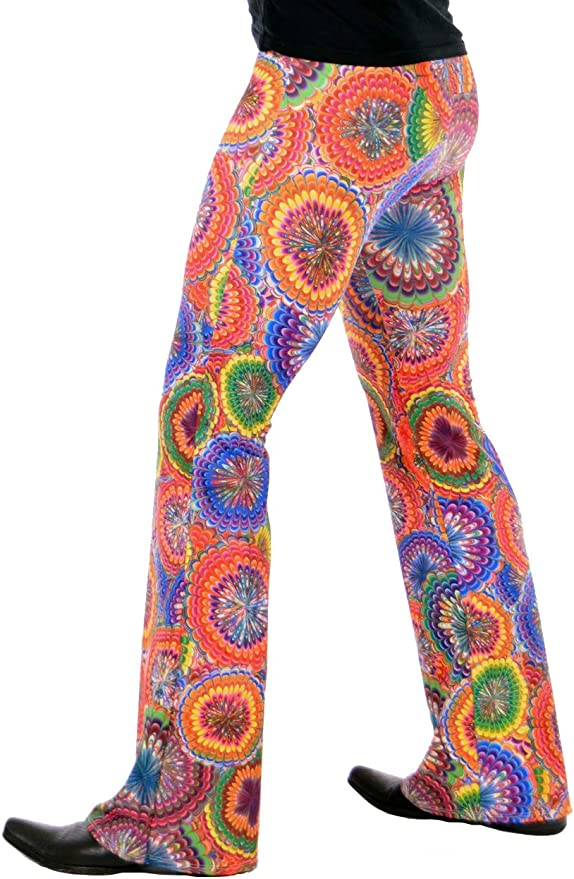 70s Costumes: Disco Costumes, Hippie Outfits Revolver Fashion/Funstigators Festival Clothing: Mens Psychedelic Flared Bell Bottoms - Made in USA  AT vintagedancer.com