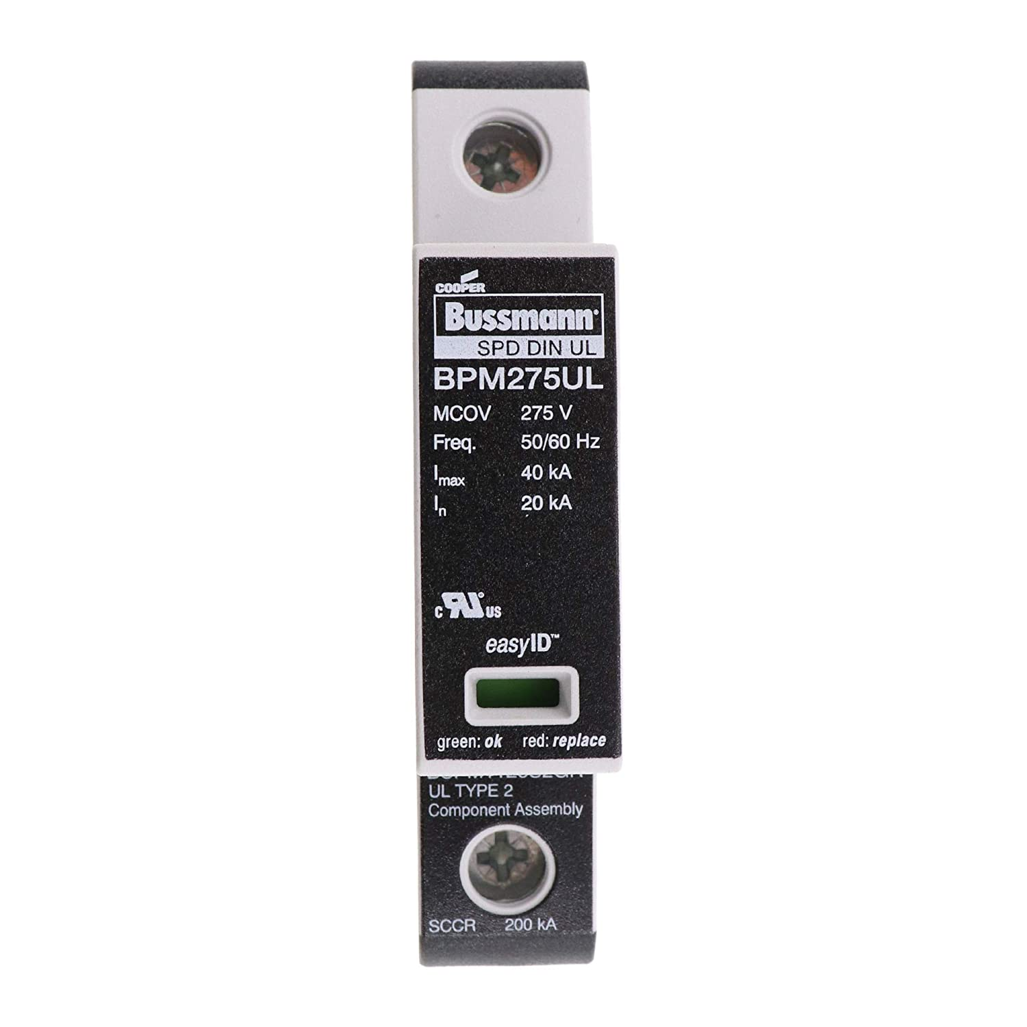 120V 1 Pole Cooper Bussmann BSPM1120S2GR Single Phase SPD Fuse with Remote