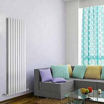 Hudson Reed DRWSP25 - Radiador Calentador Diseño Vertical Ultra Plano en Acero - Acabado Blanco -