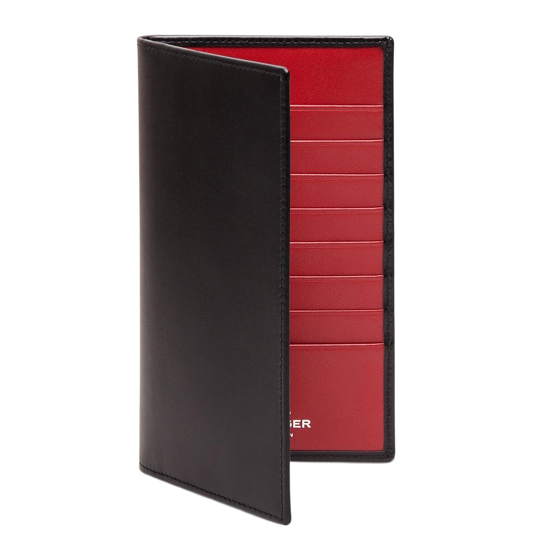 ETTINGER / スターリングコレクション レザーコートウォレット/長財布 - ブラック/レッド(内側) B00EIH4IP4