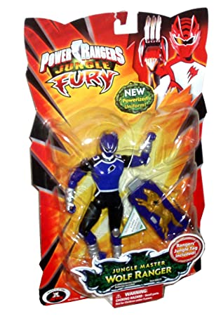 Amazon power rangers jungle fury 6 inch tall action figure power rangers jungle fury 6 inch tall action figure jungle master purple wolf ranger with voltagebd Image collections