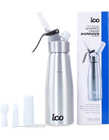 iFCOW 500mL Whipped Cream Dispenser Portable Cream Whipper with 3 Decorating Nozzles