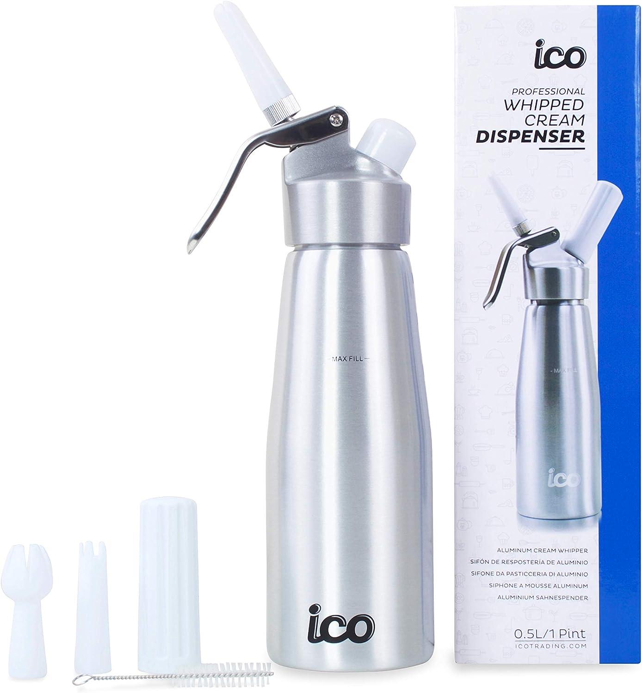 Impeccable Culinary Objects (ICO) Sifon de Cocina Profesional para Espumas y Nata de Aluminio, 500 ml