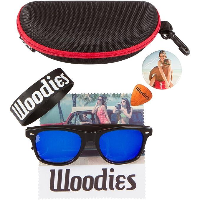 Amazon.com: Woodies Madera de ébano anteojos de sol con ...