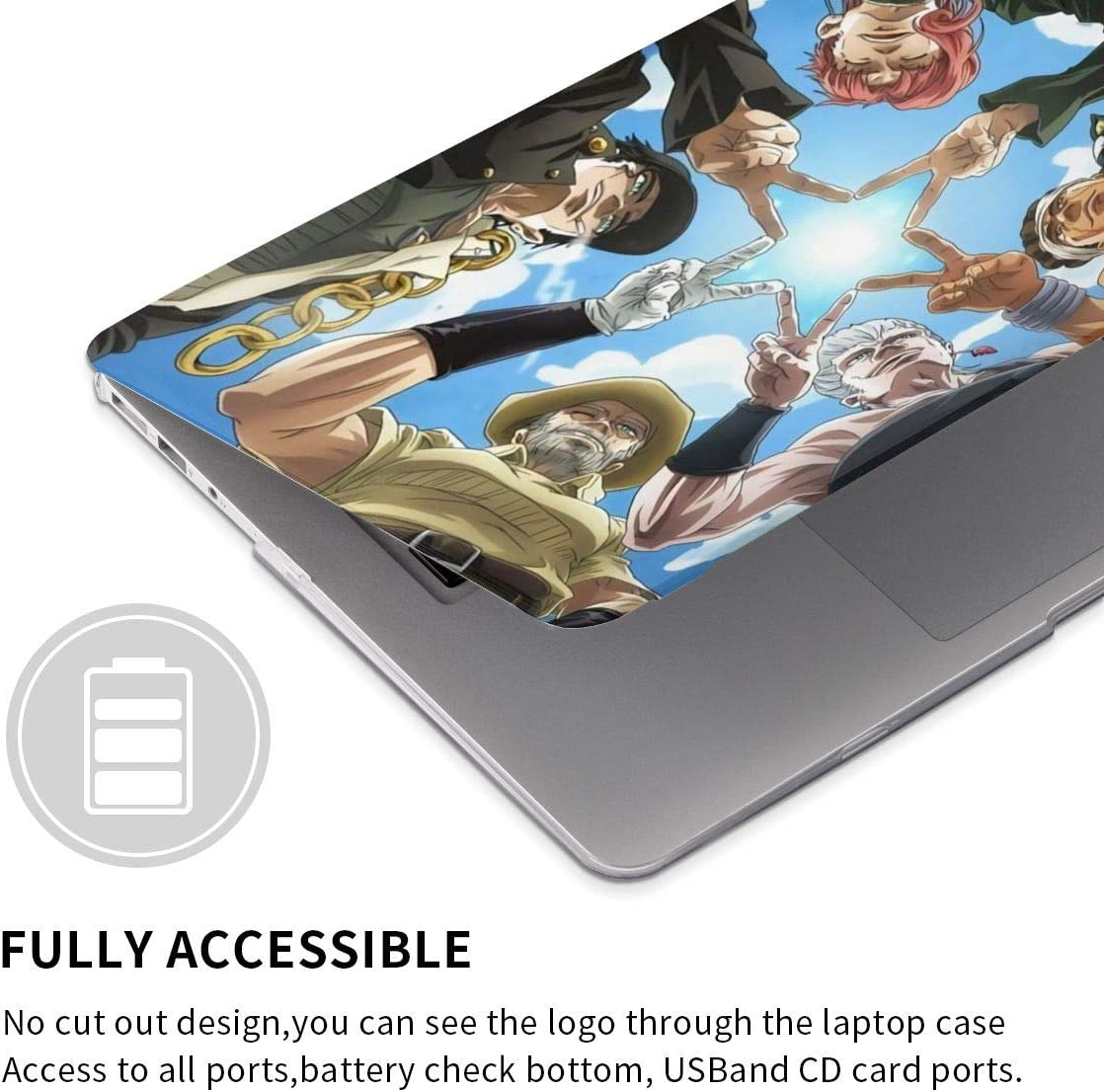 JoJos Bizarre Adventure MacBook Case,Scratch Resistant Wearable Laptop Hard Shell Cover Protective Case Release A1466 A1369 A1932 A1990 for Apple MacBook touch13