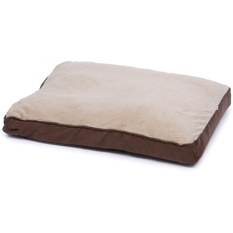 Petco Brown Memory Foam Rectangular Pillow Dog Bed, 30'' L X 40'' W X 4'' H, Large