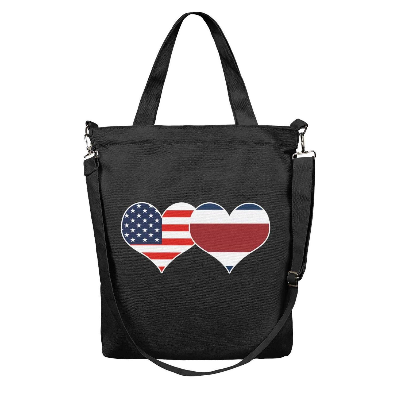 12.5 X 15 Womens Casual Reusable Zipper Shoulder Shopping Crossbody Filipino Philippines Flag Canvas Tote Bag Handbag with Handles