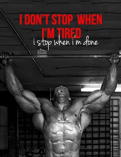 Amazon com: NewBrightBase Bodybuilding Motivational Fabric