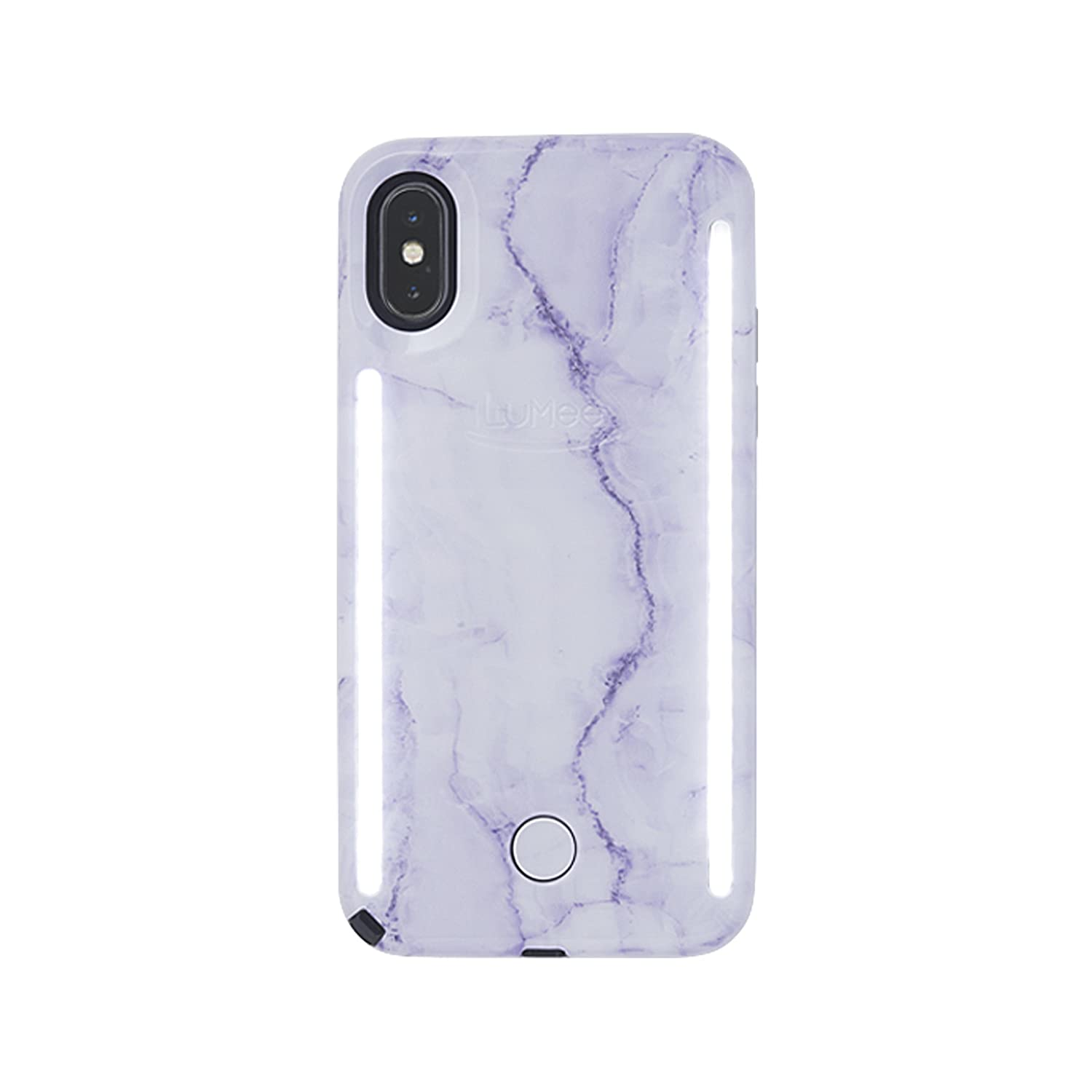 finest selection 89475 8c38b LuMee Duo Selfie Phone Case, Mirage Jewel | Front & Back LED Lighting,  Variable Dimmer | Shock Absorption, Bumper Case | iPhone X / iPhone XS