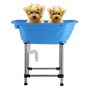 happybuy vasca da bagno per cani 94x48cm piscina cani vasca da bagno per cani animale domestico