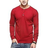 GRITSTONES Men's Cotton Henley T-Shirt