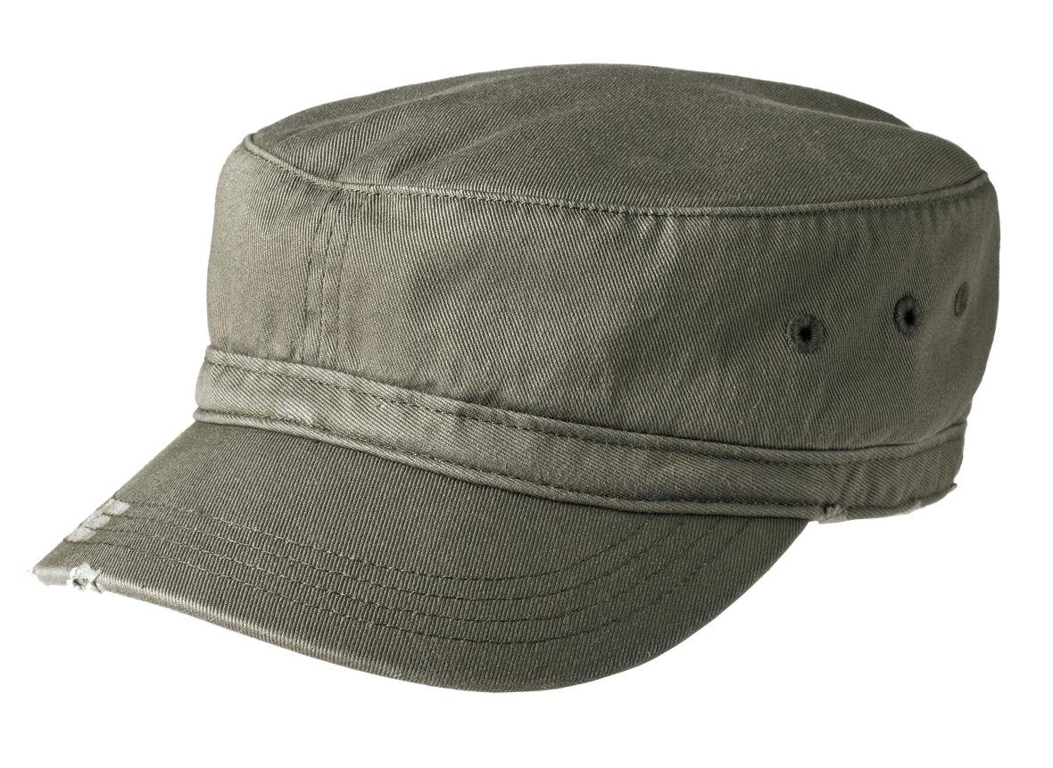 Joe's USA tm Military Style Distressed Enzyme Washed Cotton Twill Cap-Olive