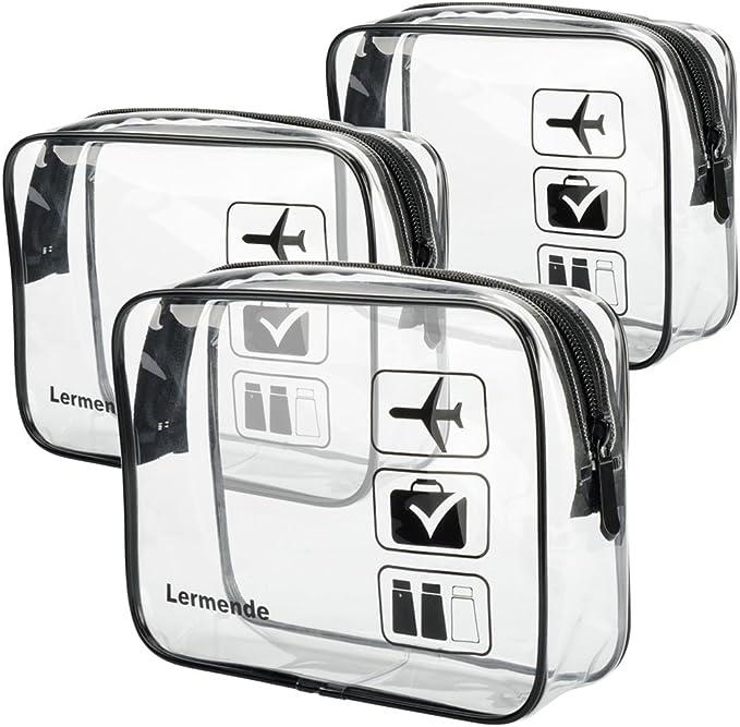 Amazon.com: Lermende TSA Bolsa de aseo con cremallera, bolsa ...