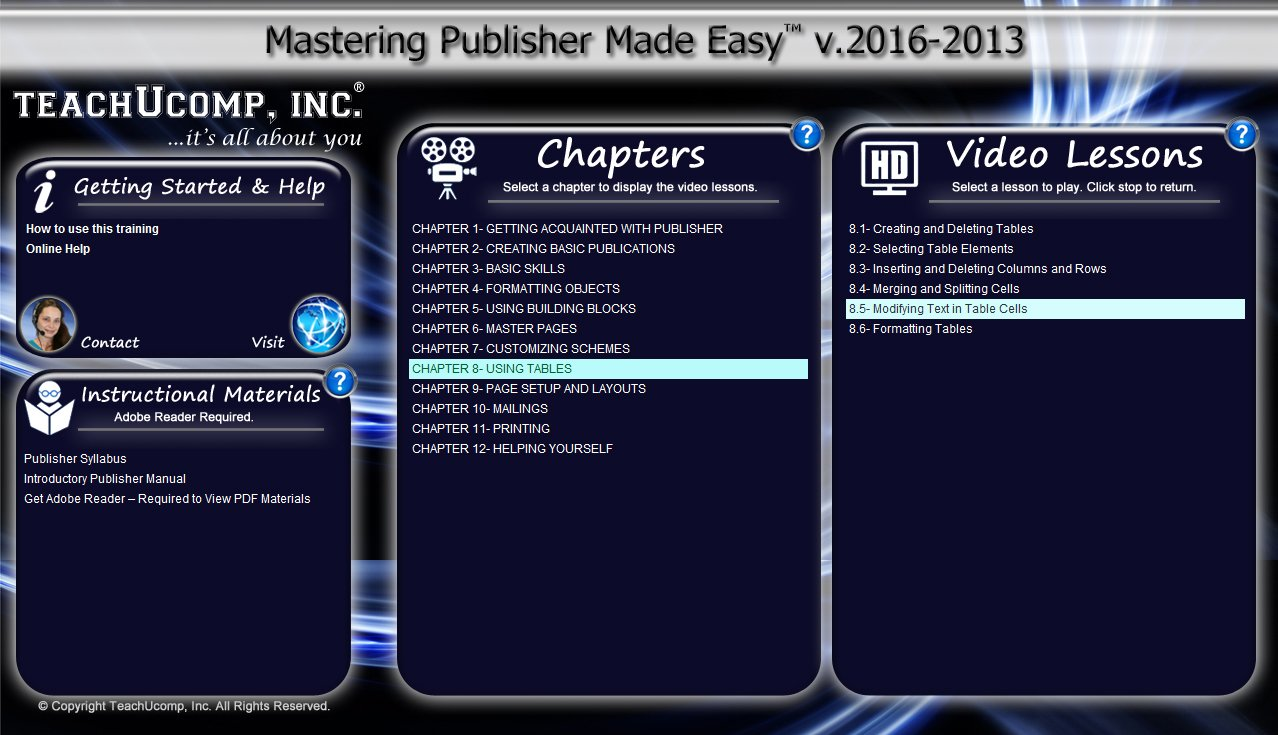 Amazon.com: Mastering Microsoft Publisher 2016 and 2013 Made Easy - CPE Ed.  - Video Training Tutorial DVD-ROM Course