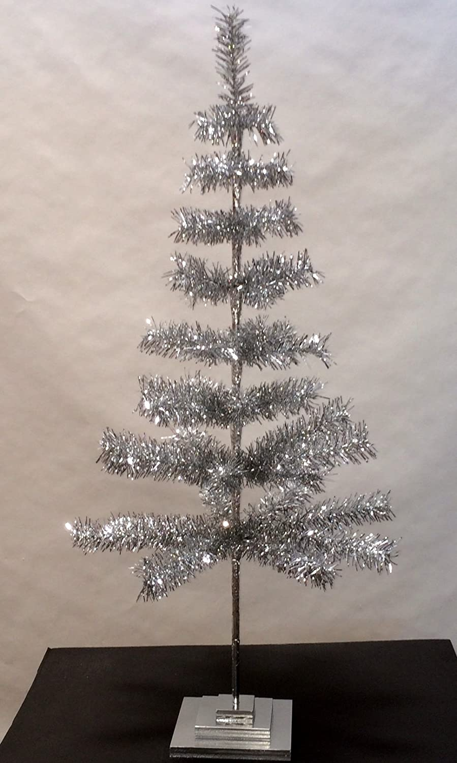 Tabletop Retro Silver Christmas Trees