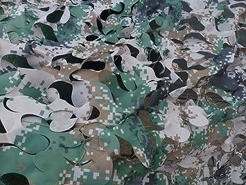 Beach /& Pool Beach and Pool Tarnnetz 2x5m Digitaldruck grau,grün,braun,schwarz