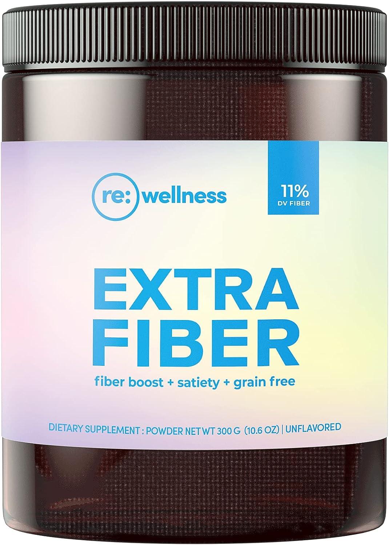 Reignite Wellness Extra Fiber Supplement Powder - Paleo-Friendly, 12 Grain-Free Fiber Blend & Psyllium Husk - Promotes Gut Health, Weight Loss & Hunger Control (60 Servings, 300 Grams) - by JJ Virgin