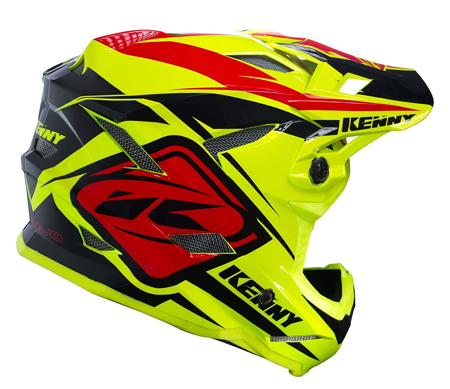 Kenny Scrub Casco Mixto, Color Jaune Fluo/Noir/Rouge, tamaño Medium: Amazon.es: Deportes y aire libre