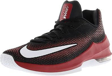 Nike Air Hombres Max Enfurecer Low Hombres Air Negro Rojo Textil a43f7d