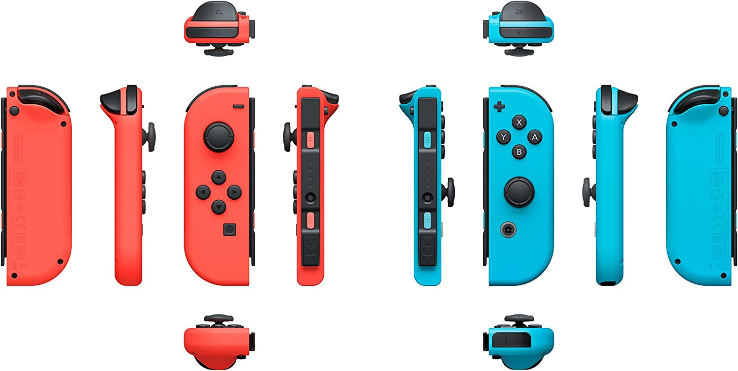 Amazon.com: Joy-Con 2er-Set Neon-Rot / Neon-Blau, Controller für Nintendo Switch: Video Games