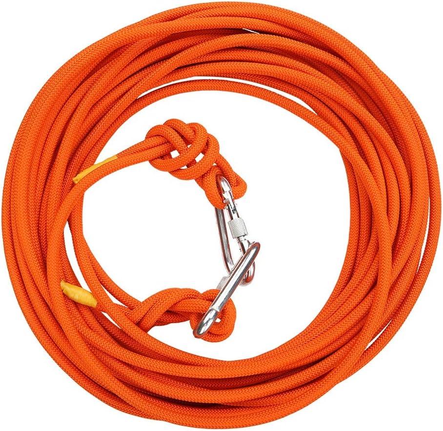 クライミングロープ、30mロングアウトドアファイヤーエスケープレスキュー屋内ロープ10mm直径、スチールワイヤーコア3ミリメートル安全な耐久ロープ (色 : オレンジ, サイズ さいず : 30m) オレンジ 30m