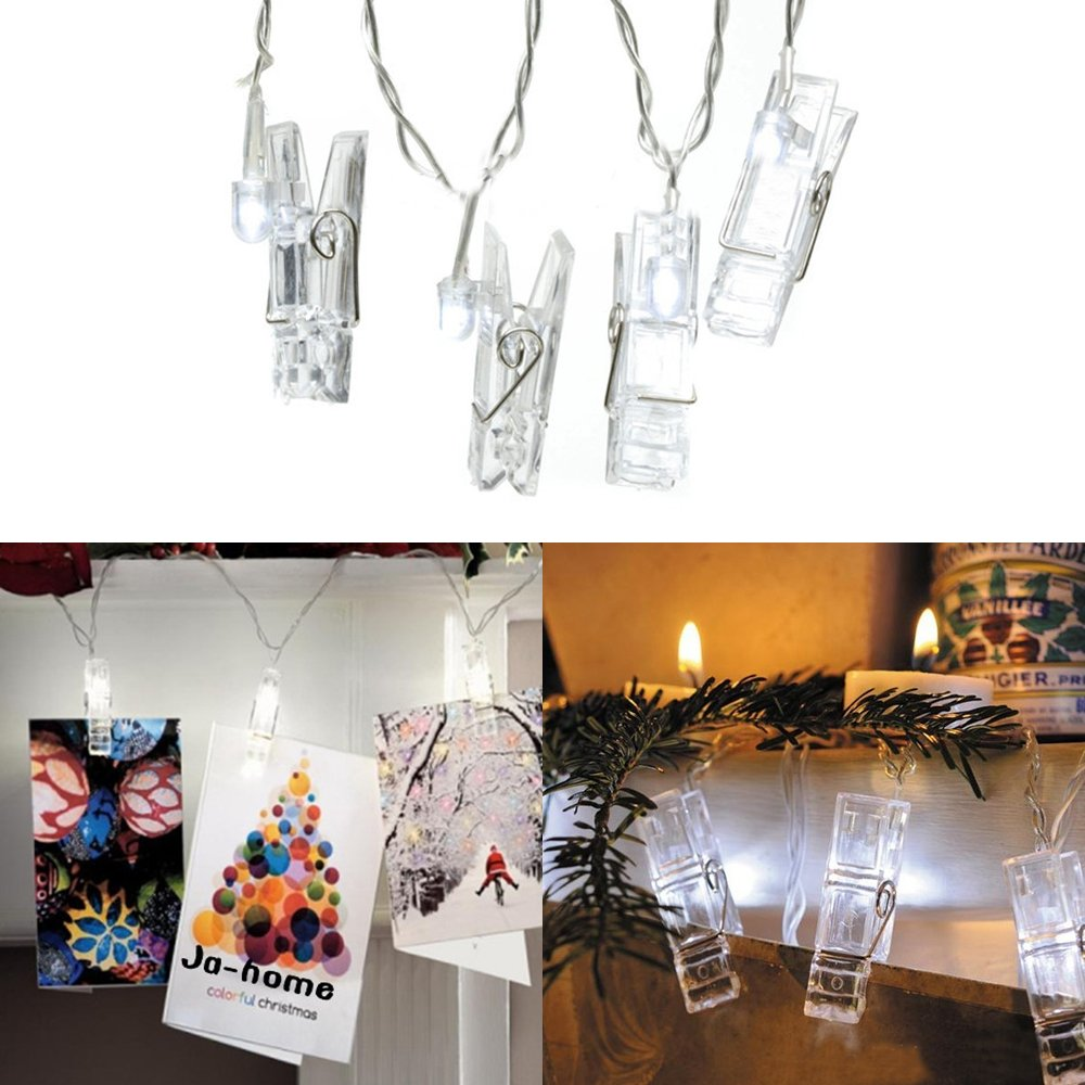 Syhonic LED Photo Clip String Lights 5M 20LED Peg Fairy Lights USB Powered for Home Wedding Birthday Valentines Decorations