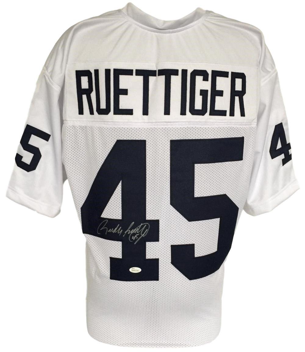 Rudy Ruettiger Notre Dame Figthing Irish Signed White Jersey JSA 136422 Best Authentics