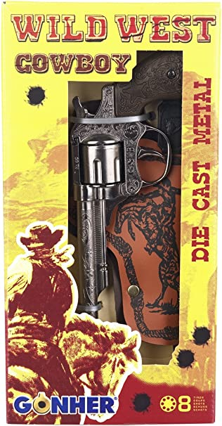 Single Revolver Gonher Noir Wild West 8-Coup 201//0