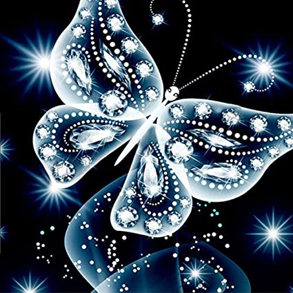 Butterfly 5D Diamond Painting Embroidery Cross Stitch DIY Craft Home Wall Decor