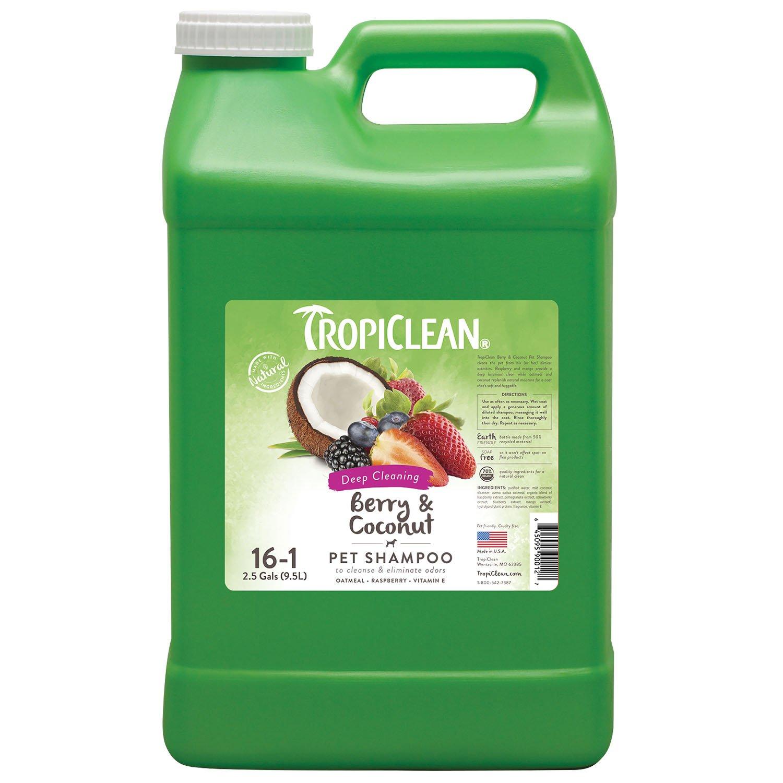 2.5 Gallon COSMOS TropiClean Natural Berry Clean Pet Shampoo, 2-1 2-Gallon