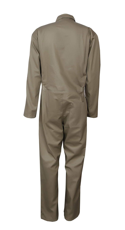 Highliving Herren Overall Overall Overall Mechaniker Baumwolle Khaki Arbeitskleidung XL Student