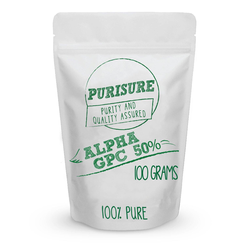 Alpha GPC 50% Powder 100g (167 Servings) | Choline Cognitive Enhancer | Nootropic | Enhanced Power Output | Mood Support | Memory | Learning | Concentration | Focus