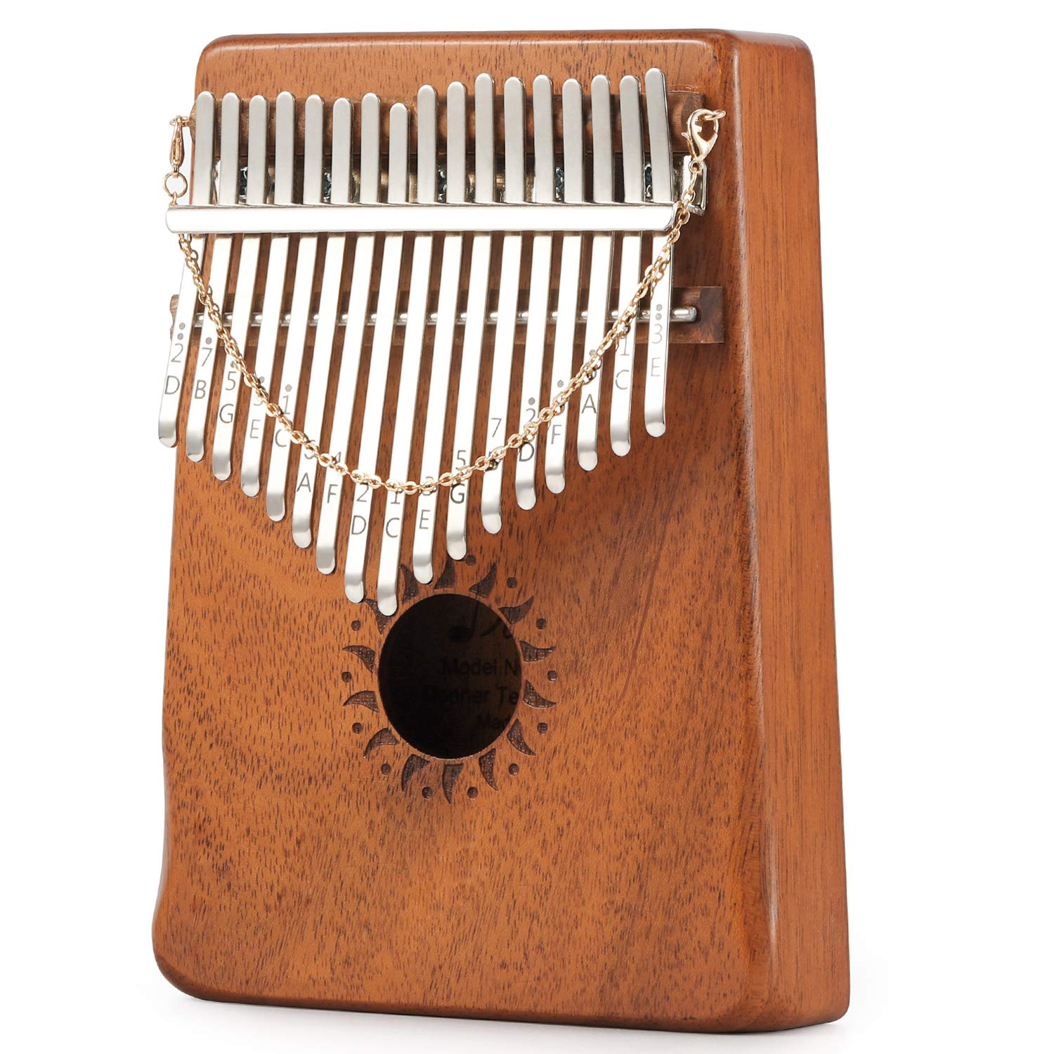 Donner 17 Key Kalimba Thumb Piano Solid Finger Piano Mahogany Body DKL-17 With Hard Case by Donner (Image #3)