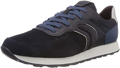 Geox u vincit c scarpe da ginnastica basse uomo amazon shoes grigio