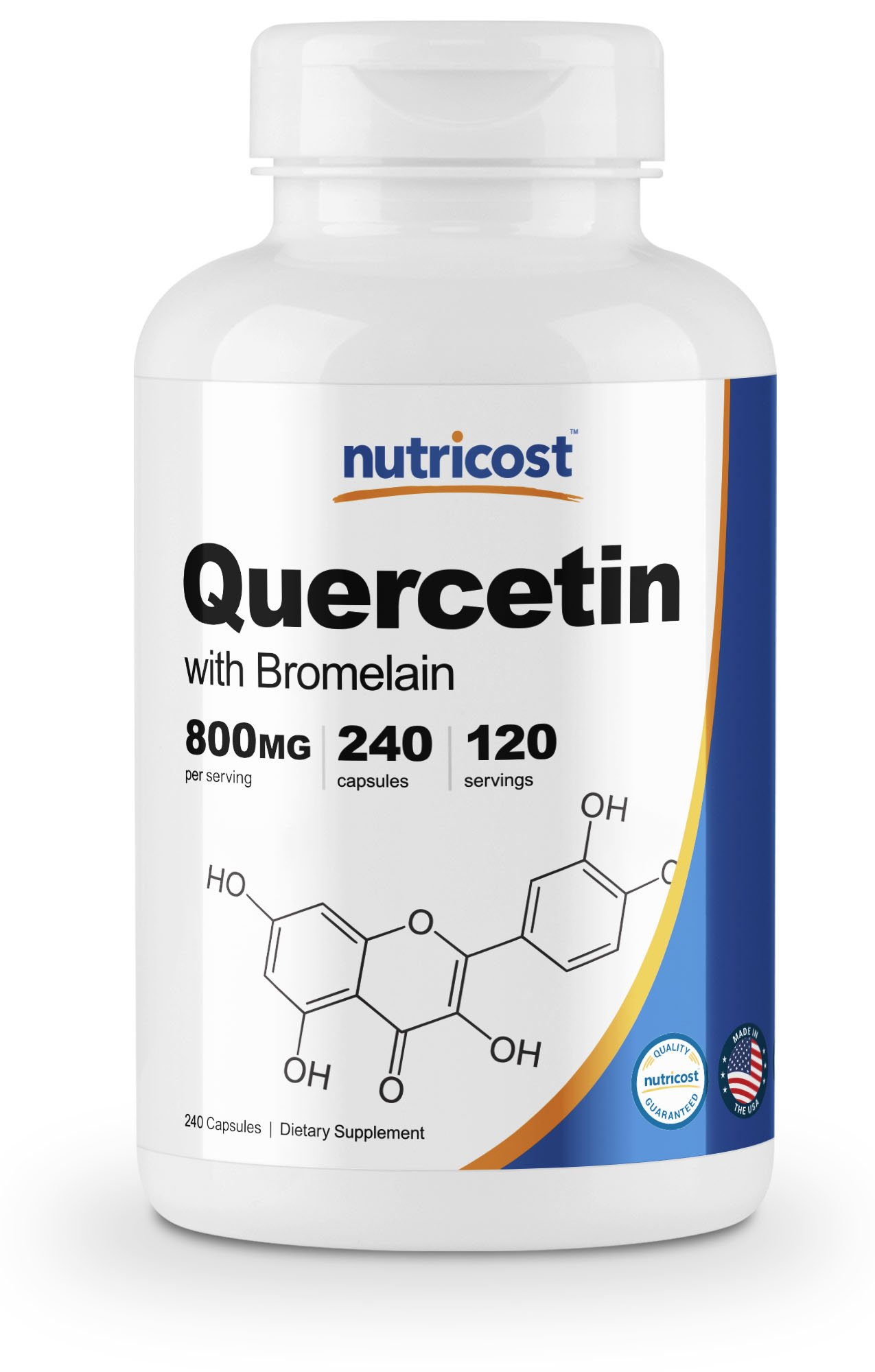 Nutricost Quercetin 800mg, 240 Caps With Bromelain (2 Bottles) by Nutricost (Image #5)