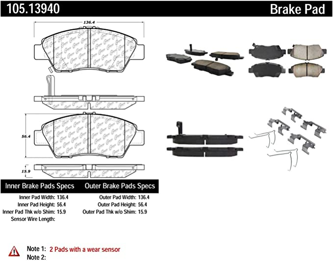 Centric FRONT and REAR Metallic Brake Pads Plus Shoes 2 Complete Sets Fits Civic Hybrid